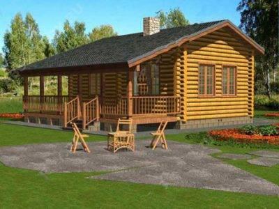 Одноэтажный дом с баней (проекты)