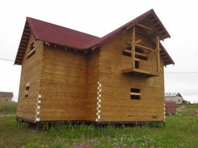 Фоторепортаж строительства дома из бруса в г. Галич