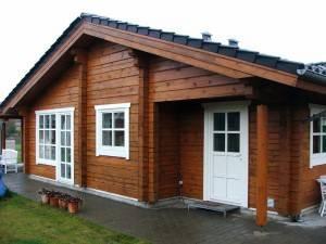Одноэтажный дом из бруса 200х200