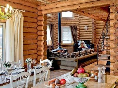 Внутренний интерьер деревянных домов