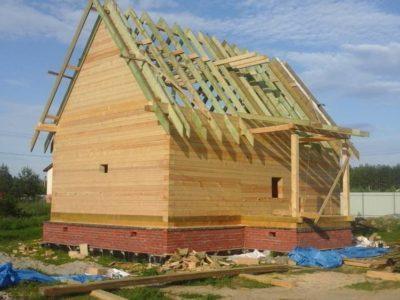 Фоторепортаж — строительство дома по проекту ДБ-78
