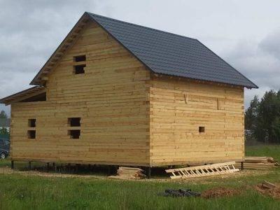 Картинка (5) Построенный сруб дачного дома 8 на 10 (ДБ-27)
