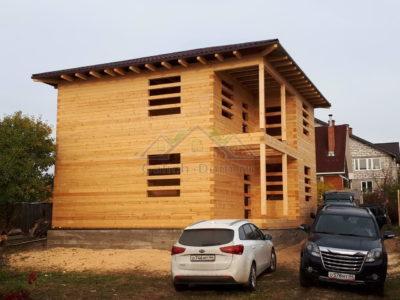 Строительство двухэтажного дома из бруса в Дмитровском районе