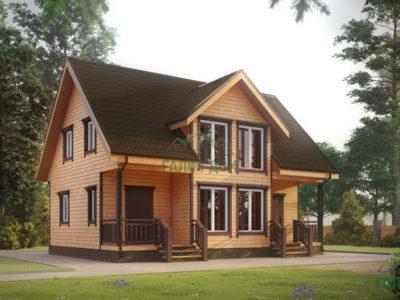 ДБ-184 | Загородный дом из профилированного бруса 7х10