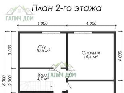 Картинка (6) Планировка 2-го этажа (ДБ-23)