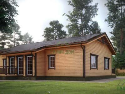 Картинка (2) Одноэтажный дом 11 на 13 из бруса (ДБ-4)