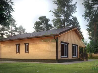 Картинка (4) Проект одноэтажного дома 11х13 (ДБ-3)