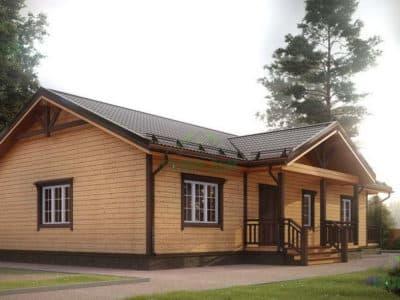 Картинка (2) Одноэтажный дом 13х15 из бруса (ДБ-5)