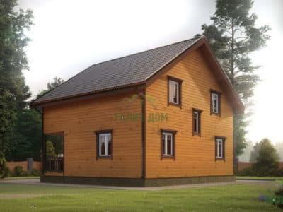 Картинка (3) Проект дом из бруса 8х9 (ДБ-179)