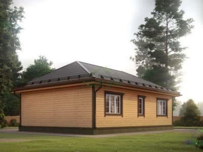 Картинка (3) Проект одноэтажного дома 8х11 (ДБ-1)