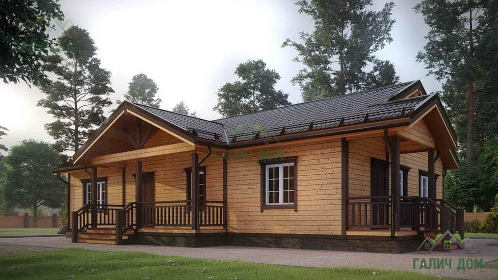 Картинка (1) Одноэтажный дом из бруса 13х15 (ДБ-5)
