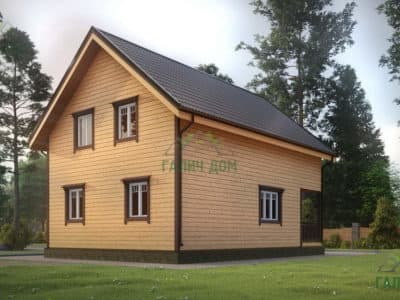 Картинка (4) Проект дома из бруса 7 на 10 (ДБ-22)