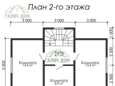 Картинка (6) Планировка 2 этажа дома (ДБ-6)