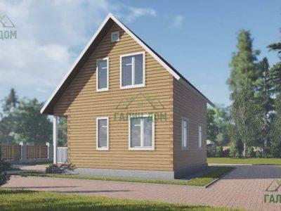 Картинка (3) Проект дома из бруса 7х7,5 с мансардой (ДБ-30)