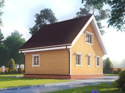 Картинка (3) Проект дачного дома 7х8 (ДБ-178)