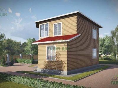 Картинка (3) Проект двухэтажного дома из бруса 8х8 (ДБ-69)