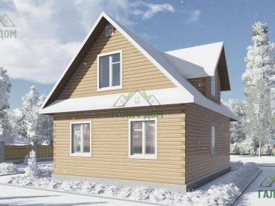 Картинка (3) Дом из бруса 7 на 9 с мансардой