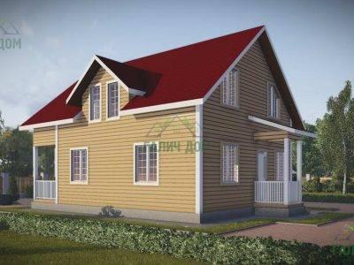 Картинка (3) Проект брусового дома 9х10 (ДБ-50)