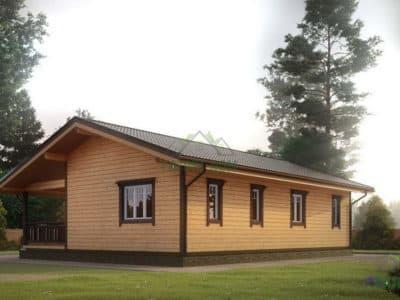 Картинка (3) Проект дома из бруса 8х9 с эркером (ДБ-35)