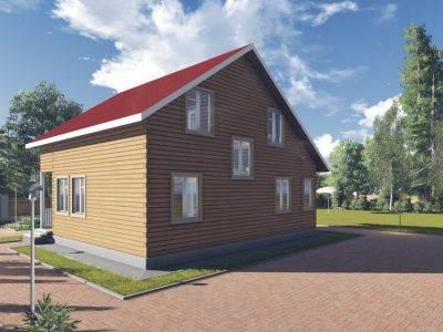 Картинка (3) Дом 10х9 с отличной планировкой (ДБ-86)