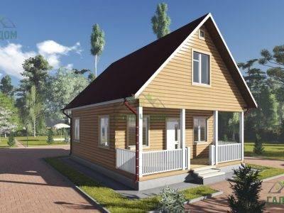 Картинка (4) Проект брусового дома 7х9 с мансардой (ДБ-87)