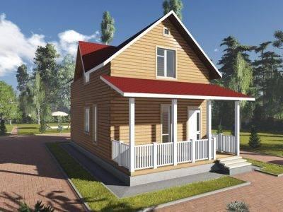 Картинка (4) Проект брусового дома 6х11 (ДБ-89)