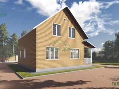 Картинка (4) Проект дома 10х10 (ДБ-90)