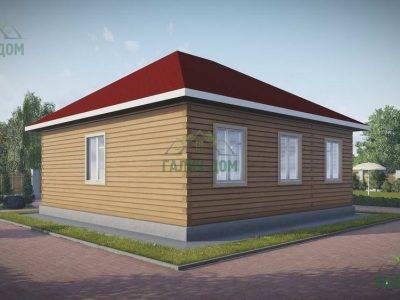 Картинка (3) Проект одноэтажного дома из бруса 9х9 (ДБ-79)