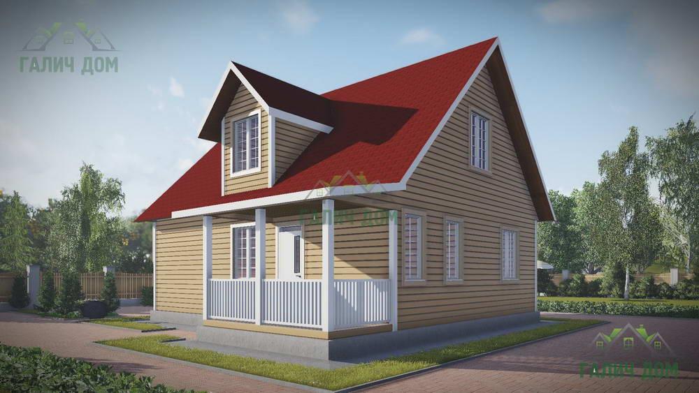 Картинка (1) Загородный дом 9 на 10 с кукушкой (ДБ-109)