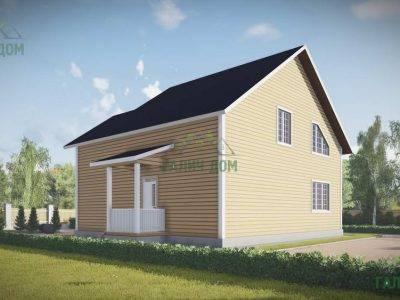 Картинка (3) Проект двухэтажного дома из бруса 9 на 10 (ДБ-54)