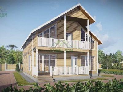Картинка (3) Проект дачного дома из бруса 9х12 (ДБ-56)