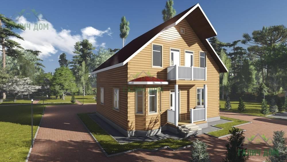 Картинка (1) Брусовой дом 9х10 с балконом (ДБ-92)