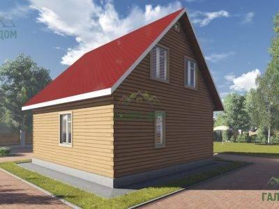 Картинка (3) Проект брусового дома 8х9 (ДБ-95)