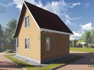 Картинка (4) Проект брусового дома 7х7 с мансардой (ДБ-97)