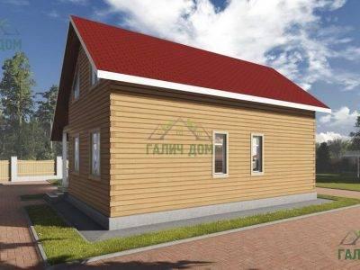Картинка (3) Проект брусового дома 7х10 (ДБ-98)