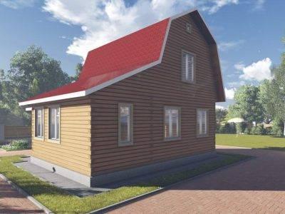 Картинка (2) Брусовой дом 7 на 9 с вернадой (ДБ-99)