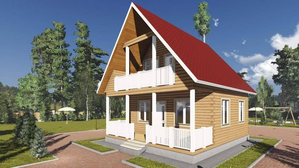 Проект дома из бруса 7х8