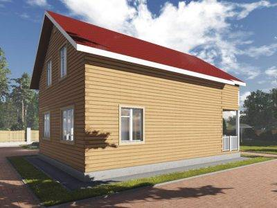 Проект дома из бруса 10х11