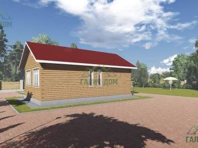 Картинка (2) Одноэтажный дом 6х10 (ДБ-103)