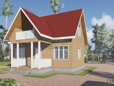Картинка (2) Дом из бруса 7х8 (ДБ-21)