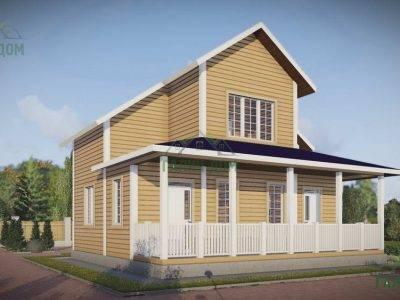 Картинка (3) Дачный дом из бруса 9х10 (ДБ-43)
