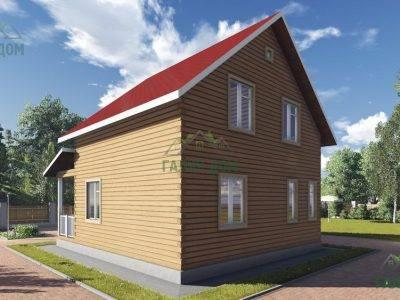 Картинка (2) Загородный дом из бруса 8х9 (ДБ-106)