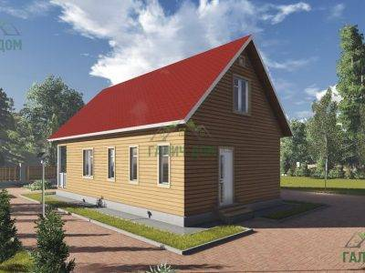 Картинка (3) Проект дома из бруса 7 на 12 с мансардой (ДБ-15)