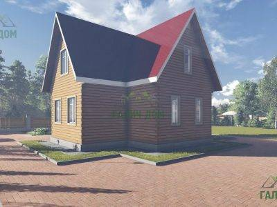 Картинка (3) Проект дома из бруса 10х11 с мансардой (ДБ-17)