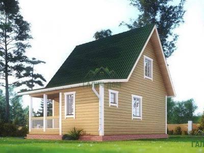 Картинка (2) – Дом из профилированного бруса 6х8