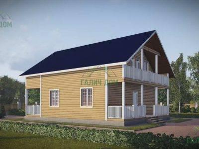 Картинка (3) Проект дома из бруса 8х12 (ДБ-48)