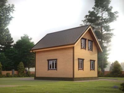 Картинка (3) Проект дома из бруса 6 на 7 (ДБ-33)