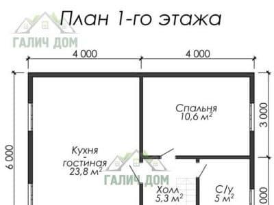 Картинка (5) Планировка 1-го этажа (ДБ-30)