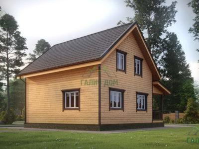 Картинка (4) Проект дома 8 на 9 с террасой (ДБ-36)