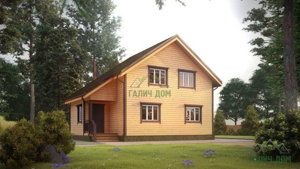 Картинка (1) Дом из бруса 7х10 (ДБ-23)